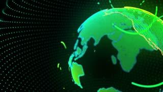 Digital Virtual Earth Simulation Hologram 4K and Full HD Green