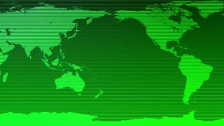 Digital World Map Seamless Motion Background Green