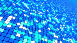 Disco Dance Floor Seamless VJ Loop Motion Background Cool Blue Cyan White