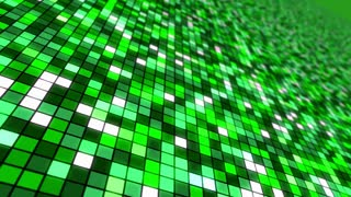 Disco Dance Floor Seamless VJ Loop Motion Background Green