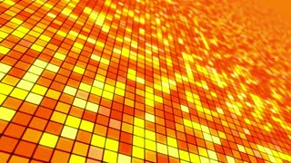 Disco Dance Floor Seamless VJ Loop Motion Background Orange Red Yellow Hot