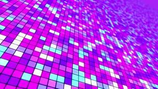 Disco Dance Floor Seamless VJ Loop Motion Background Violet Purple Cyan Blue