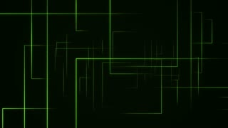 Dynamic Lines seamless looping background Green 4K and Full HD