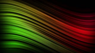 Elegant Colorful Curved Silk Lines Motion Background Ultra HD 4K and Full HD Green Red