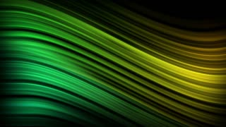 Elegant Colorful Curved Silk Lines Motion Background Ultra HD 4K and Full HD Green Yellow