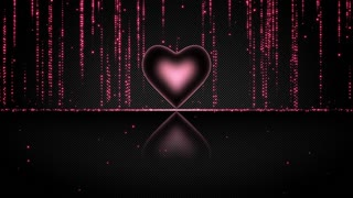 Elegant Glowing Heart with Streaks of Light Particles Seamless Looping Motion Background Pink Magenta