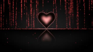 Elegant Glowing Heart with Streaks of Light Particles Seamless Looping Motion Background Red