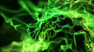 Energy Flower made up of Glowing Particles | Seamless Loop | Natural Shades of Green | Full HD