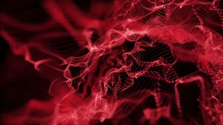 Energy Flower made up of Glowing Particles | Seamless Loop | Red Maroon | Full HD