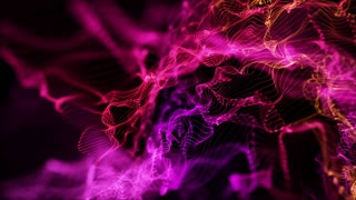 Energy Flower made up of Glowing Particles | Seamless Loop | Shades of Magenta Violet Pink | Full HD
