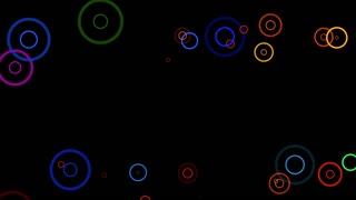 Fancy Rings Motion Background Flat Black Design 4K and Full HD Multicolor 1