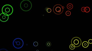 Fancy Rings Motion Background Flat Black Design 4K and Full HD Multicolor 2