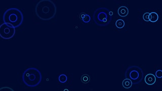 Fancy Rings Motion Background Flat Design 4K and Full HD Blue