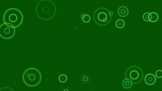 Fancy Rings Motion Background Flat Design 4K and Full HD Green