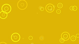 Fancy Rings Motion Background Flat Design 4K and Full HD Orange Yellow