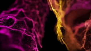 Fantastic Rack Focus Particles Looped Background Full HD Pink Magenta Violet