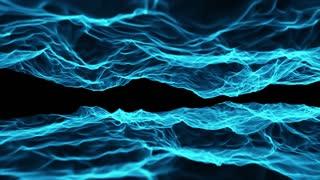 Fiery Flames Seamless Motion Background Cyan Blue