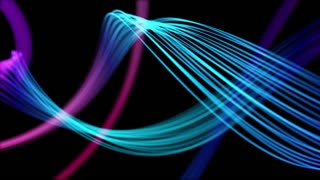 Ribbons From Heaven Beautiful Colorful Looped Background Full HD Cyan Neon Blue Violet Multicolored