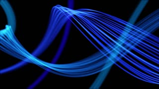Ribbons From Heaven Beautiful Colorful Looped Background Full HD Blue