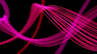 Ribbons From Heaven Beautiful Colorful Looped Background Full HD Pink Magenta