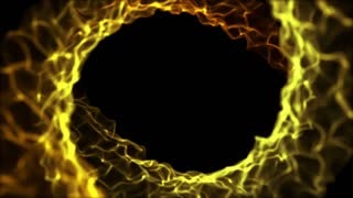 Spiral Frame Motion Background Full HD Yellow