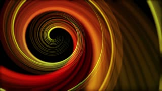 Spinning Artistic Spiral Abstract Motion Background Seamless Loop Full HD Red Orange Yellow
