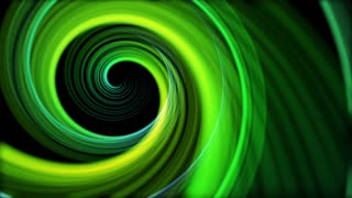 Spinning Artistic Spiral Abstract Motion Background Seamless Loop Full HD Green