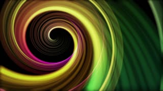 Spinning Artistic Spiral Abstract Motion Background Seamless Loop Full HD Yellow Green Lemon