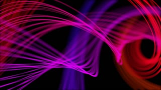 Heavenly Elegant Curved Lines or Strings Twisting and Spinning Abstract Motion Background Seamless Looping Video Backdrop Full HD Pink Red Violet