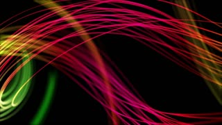Colorful Curved Curvy Strings or Fibers Beautiful Seamless Looping Motion Background Animated Video Backdrop VJ Loop Full HD Pink Magenta Red