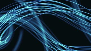 Single Colored Strings From Heaven Beautiful Looped Background Full HD Blue Cyan