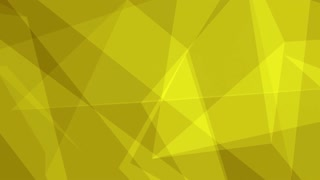 Glass Crystal Polygons Seamless Motion Background Full HD Bright Yellow