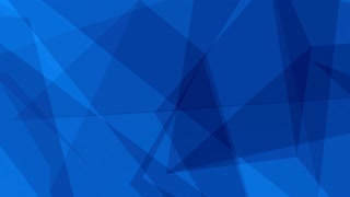 Glass Crystal Polygons Seamless Motion Background Full HD Dark Blue