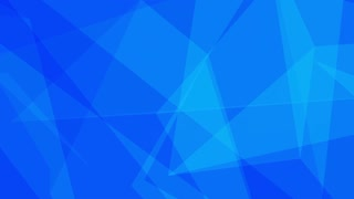 Glass Crystal Polygons Seamless Motion Background Full HD Bright Blue