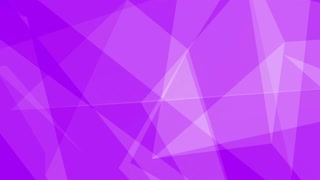 Glass Crystal Polygons Seamless Motion Background Full HD Bright Purple
