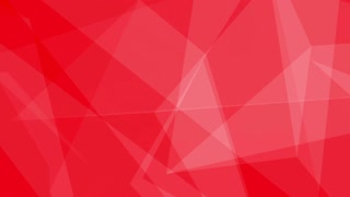Glass Crystal Polygons Seamless Motion Background Full HD Bright Red