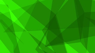 Glass Crystal Polygons Seamless Motion Background Full HD Dark Green