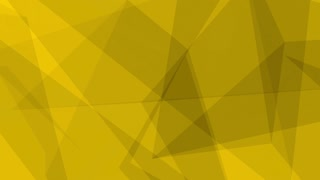 Glass Crystal Polygons Seamless Motion Background Full HD Dark Yellow