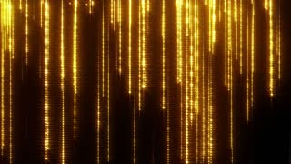 Glittering Particle Streaks Seamless Looping | Raining Glowing Glitter Particles Seamless Looping Motion Background Animated Video Backdrop Loop Gold Yellow Orange