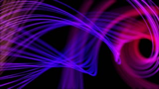 Heavenly Elegant Curved Lines or Strings Twisting and Spinning Abstract Motion Background Seamless Looping Video Backdrop Full HD Blue Pink Magenta Purple