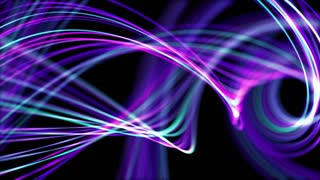 Heavenly Elegant Curved Lines or Strings Twisting and Spinning Abstract Motion Background Seamless Looping Video Backdrop Full HD Purple Violet Blue