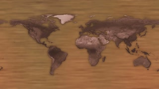 HUD Futuristic World Map 30 seconds without seamless Looping Motion Background Version 4 Beige