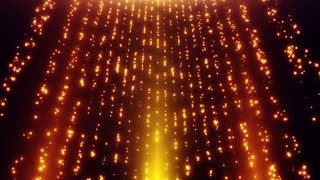 Looped Falling Glowing Dust Particles Motion Background Gold Golden