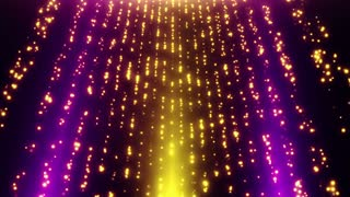 Looped Falling Glowing Dust Particles Motion Background Purple Violet Yellow Gold Orange