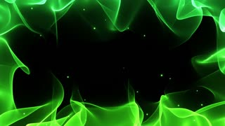 Magical Colorful Frame Border with Floating Particles Seamless Looping Motion Background Natural Green