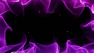 Magical Colorful Frame Border with Floating Particles Seamless Looping Motion Background Violet Purple