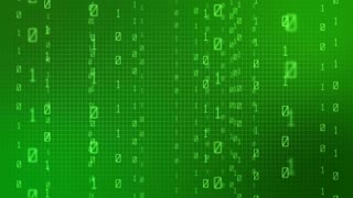 Matrix like Code Grid made up of Binaries Motion Background Green Version