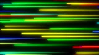 Metro Light Streaks Seamless Loop 4K Ultra HD Horizontal II Multicolor