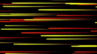 Metro Light Streaks Seamless Loop 4K Ultra HD Horizontal II Red Yellow Orange