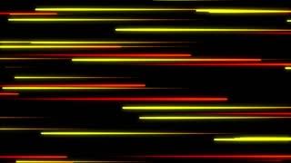 Metro Light Streaks Seamless Loop 4K Ultra HD Horizontal Red Yellow Orange